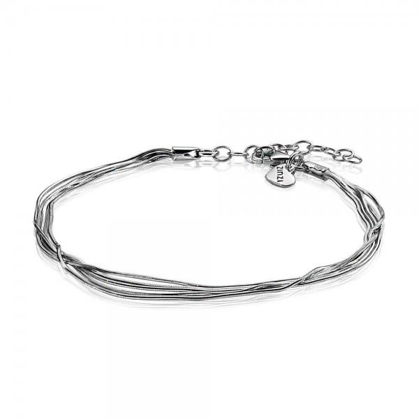 Zinzi Multi-Look Slangenarmband Dames ZIA1347 Zilver