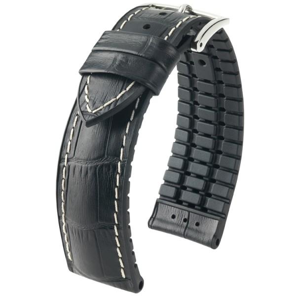 Hirsch horlogeband George L 24mm Zwart