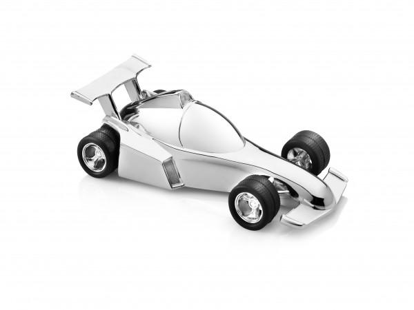 Zilverstad Spaarpot F1 Racewagen Raceauto Verzilverd