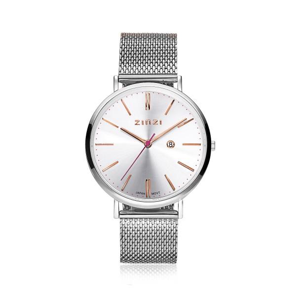 Zinzi Zilver Horloge 38 mm ZIW412M