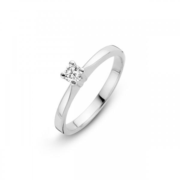 Briljant - Eternal Witgouden Damesring 0,03crt Diamant