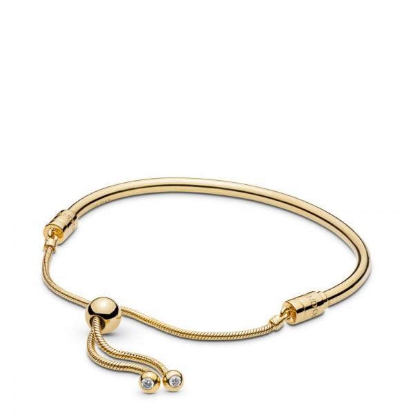Pandora Moments Shine Armband Dames 567953CZ-2 Goudkleurig Zilver