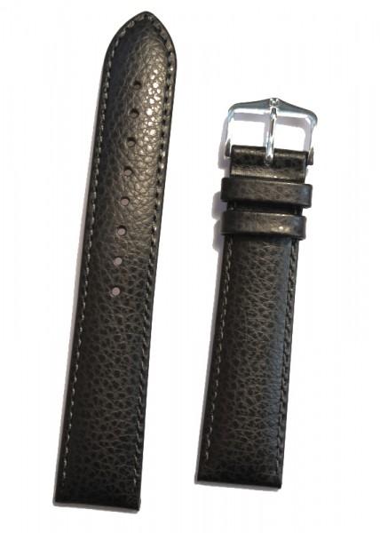 Hirsch Kansas Horlogeband Unisex 01502050-2-20 Zwart 20mm Kalfsleder