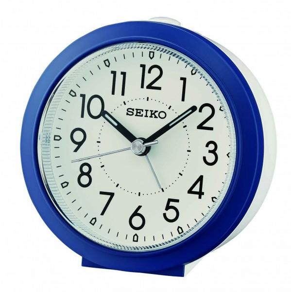 Seiko Wekker QHE174L - wit/blauwe kunststof kast