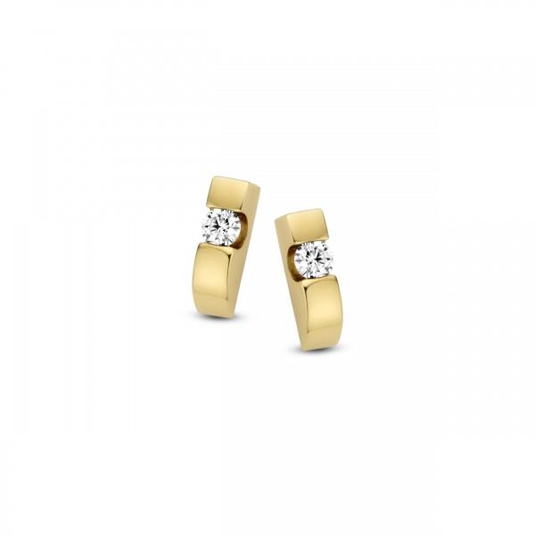 Briljant - Stretto Gouden Oorknoppen 2x0,05crt Diamant