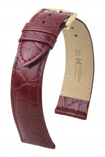Hirsch horlogeband - CROCOGRAIN - 20MM BRUIN - M