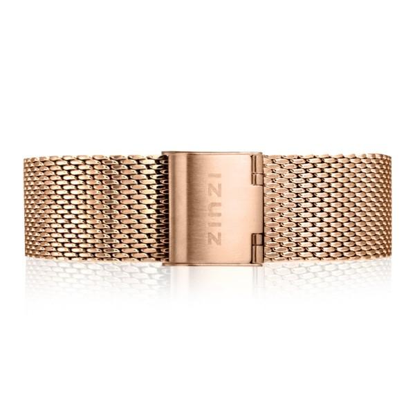 Zinzi Retro RETBAND2 stalen mesh horlogeband roségoud gekleurd 18mm