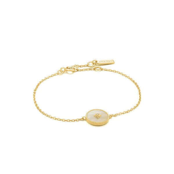 Ania Haie - Mother of Pearl Emblem Armband B022-02G