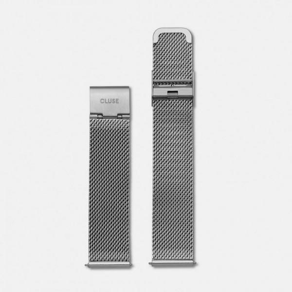 Cluse strap mesh zilverkleurig CLS345 – 16mm horlogeband