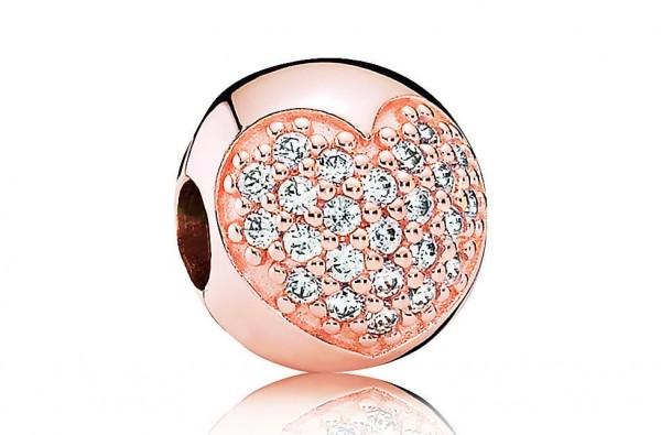 Pandora Love of my Life Clipstopper Bedel 781053CZ Rosé Zilver Zirkonia