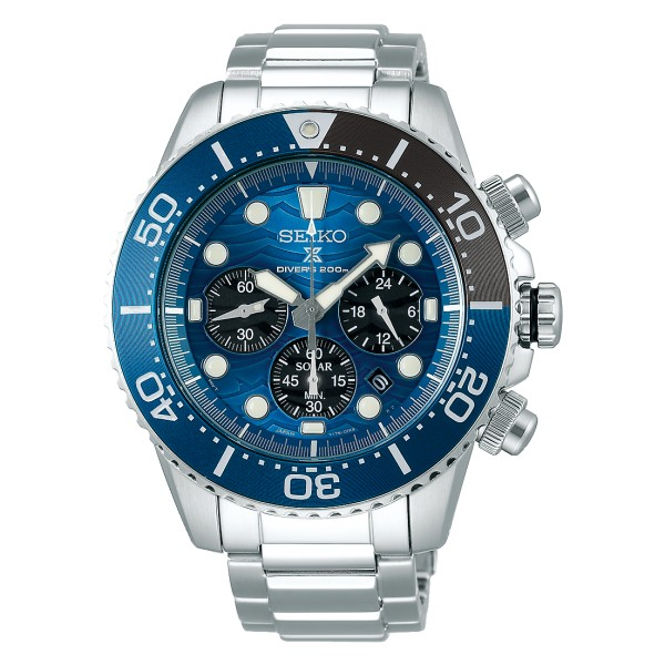 Seiko Prospex Solar Herenhorloge SSC741P1 Save The Ocean