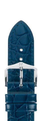 Hirsch Crocograin Horlogeband 12302880-2-18 Blauw Leder