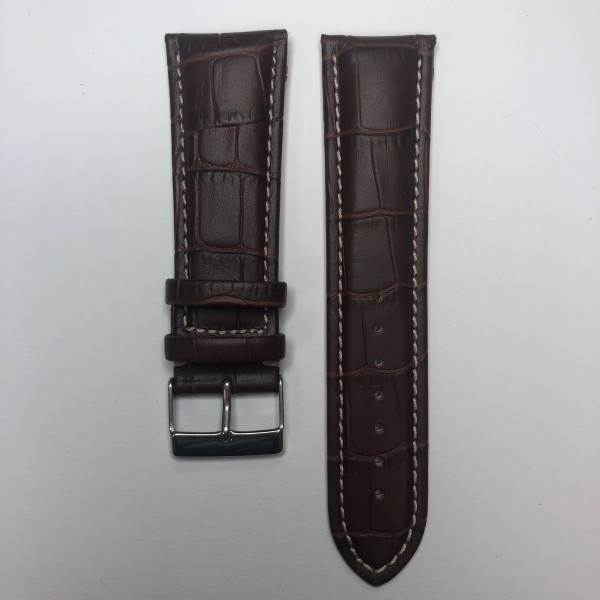 Remerko Horlogeband - Middden Bruin - 24MM