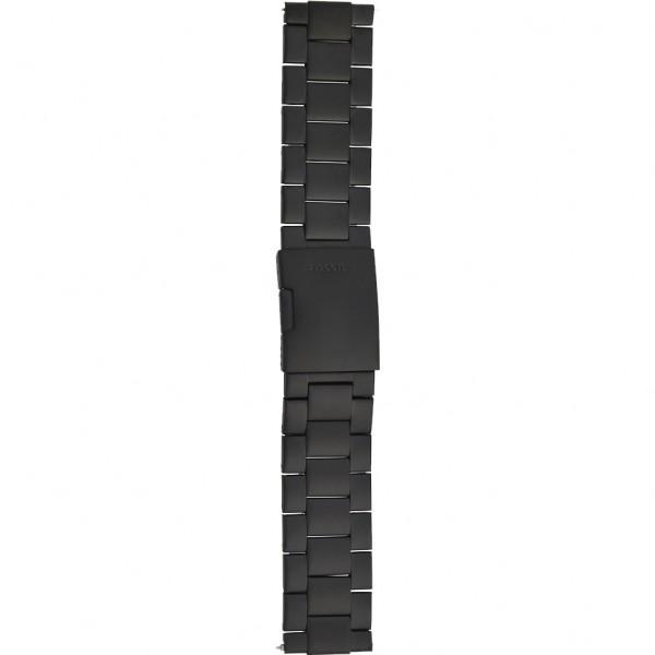 Fossil Nate Horlogeband Heren JR1401/FS4682 RVS Zwart