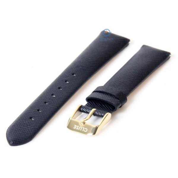 Cluse strap donkerblauw – goudkleurige gesp CLS360 – 16mm horlogeband