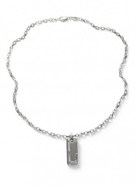 Fossil Mens Dress Heren Necklace JF84466040 RVS