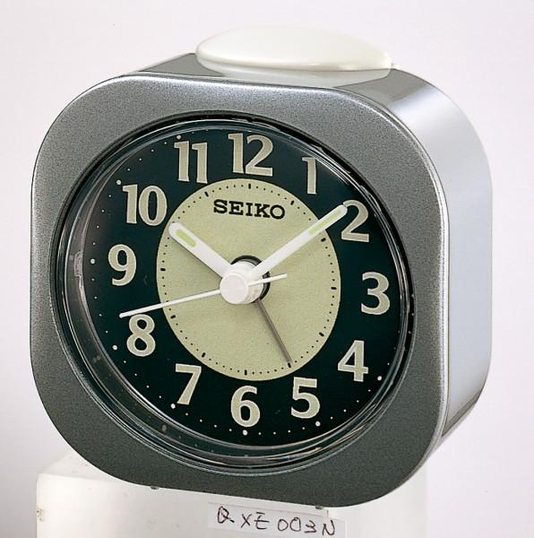 Seiko wekker met electronisch piep alarm - donkergrijze kunststof kast - QHE121N