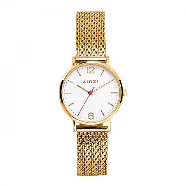 Zinzi Goud Wit Horloge 28 mm ZIW607M