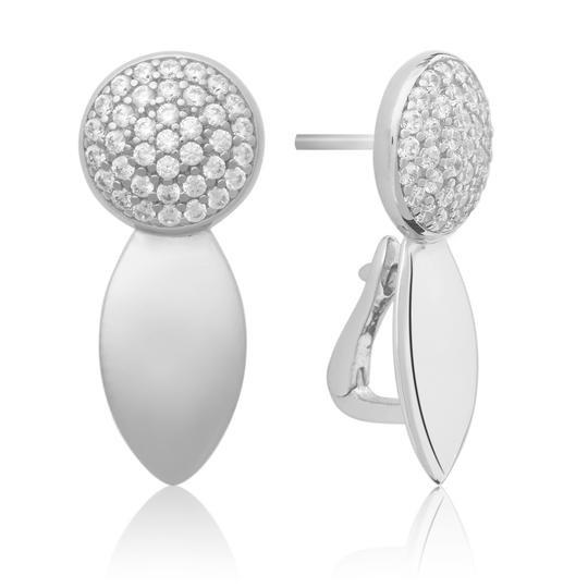 Sparkling Jewels Oorsierraad EAS04 Silver Swarovski