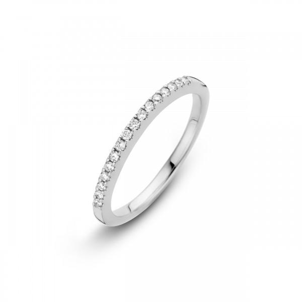 Briljant - Siders Witgouden Damesring 15x0,01crt Diamant