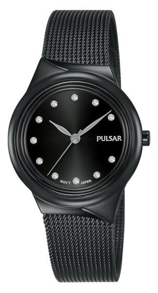 Pulsar Dameshorloge Quartz Analoog PH8443X1 Zwart Swarovski