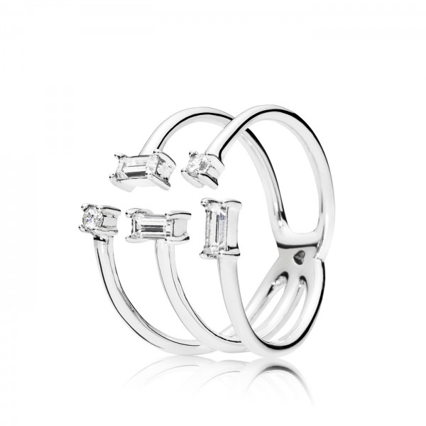 Pandora Ring Open Shards Of Sparkle 197527CZ-54 Zilver Zirkonia