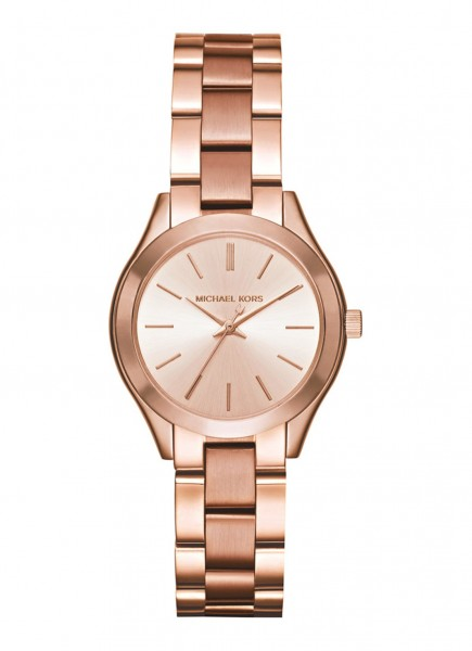 Michael Kors Mini Slim Runway Dameshorloge Quartz Analoog MK3513 Roségoudkleurig