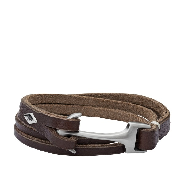 Fossil Hook Bruin JF02205040 Armband
