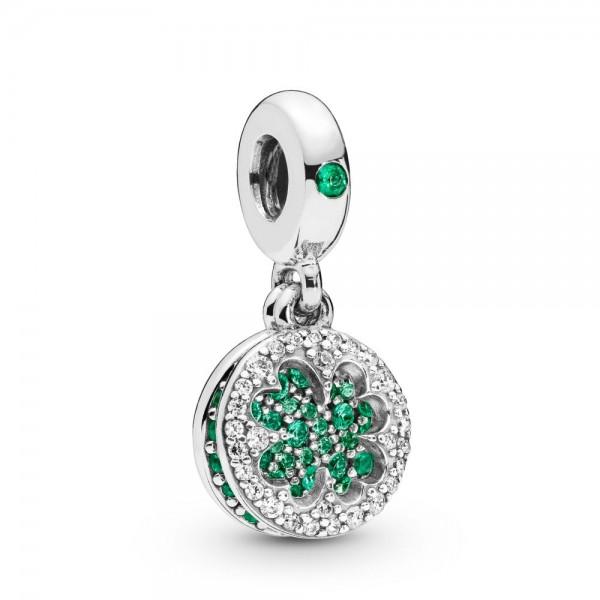 Pandora Dazzling Clover Bedel Dames 797906NRGMX Zilver Zirkonia Kristal