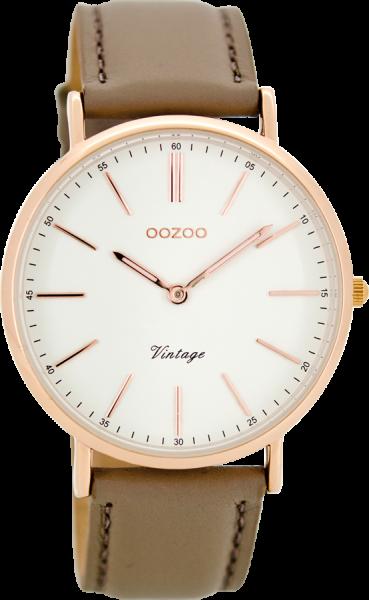 OOZOO Vintage Taupe Rose Horloge 40mm C8168