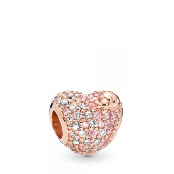 Pandora Moments Gleaming Ladybird Heart Bedel Dames 787894NPOMX Zilver Zirkonia Kristal