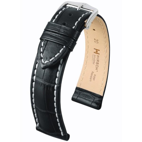 Hirsch Modena Horlogeband 18mm Zwart