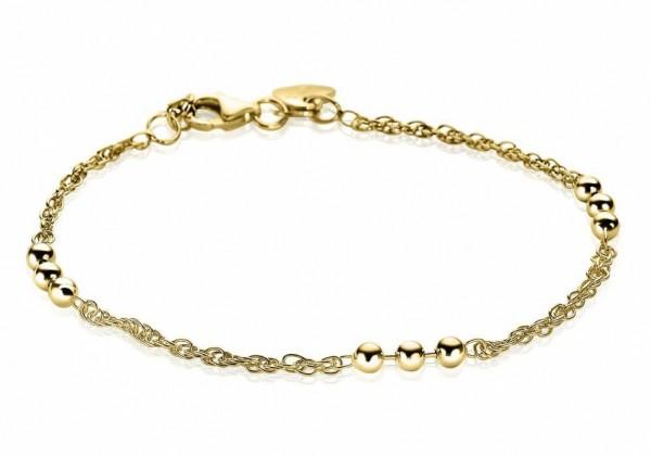 Zinzi Armband Dames Fantasieschakel Bolletjes ZIA1422G Geelgoudkleurig Zilver