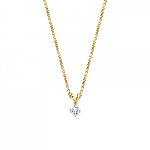 Briljant - Classico Gouden Dameshanger 0,10crt Diamant