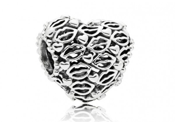 Pandora Hearts and Lips Bedel 796564 Zilver