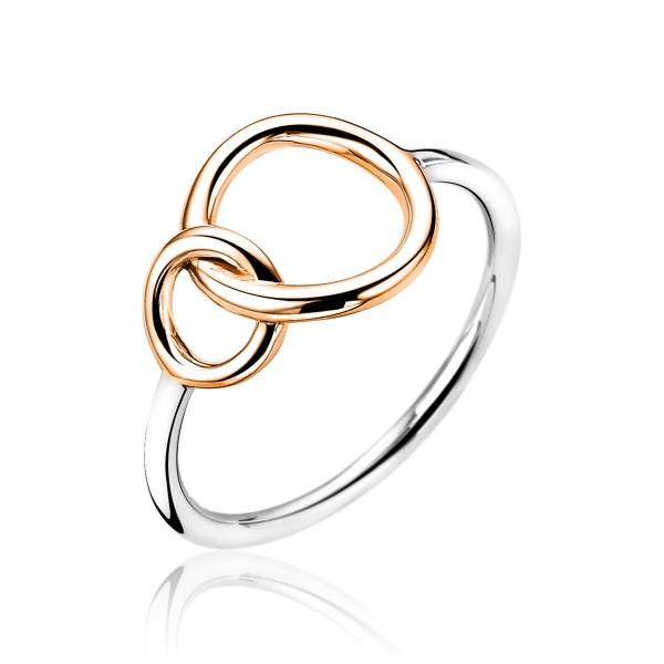 Zinzi Ring Dames ZIR1278R56 Roséverguld en Zilver