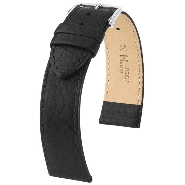 Hirsch horlogeband - DENVER Zwart 20mm