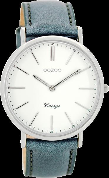 OOZOO Vintage Aquagrijs Wit Horloge 40mm C8167