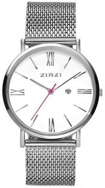 Zinzi Zilver Wit Horloge 34 mm ZIW506M
