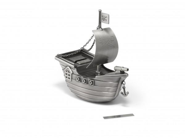 Zilverstad Spaarpot Piratenboot - mat gelakt