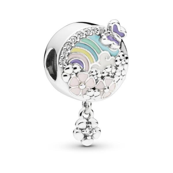Pandora Flower and Rainbow Bedel Dames 797999ENMX Zilver Meerkleurig