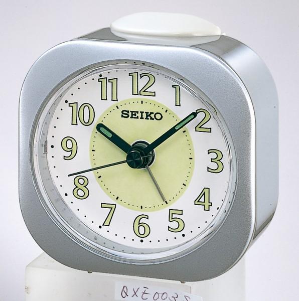 Seiko wekker met electronisch piep alarm - grijze kunststof kast - QHE121S