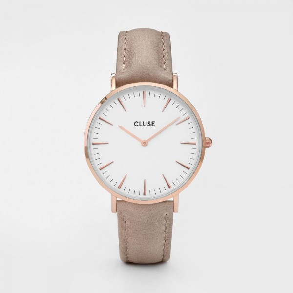 CLUSE LA BOHÈME ROSE GOLD/BROWN 38MM HORLOGE CL18031