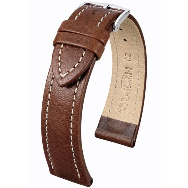 Hirsch horlogeband - BUFFALO - 20mm BRUIN - M