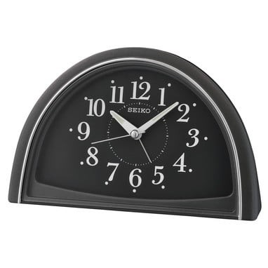 Seiko wekker - QHE166K - Zwart kunststof kast