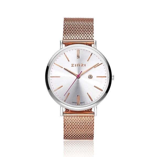 Zinzi Rosé Zilver Horloge 38 mm ZIW412MR