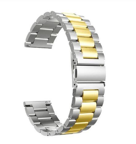 Horlogeband - vouwsluiting met drukknoppen - edelstaal 18mm