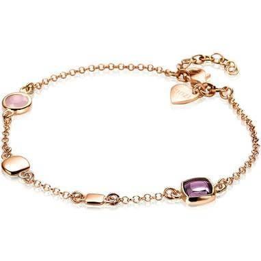 Zinzi Jasseron Armband Dames ZIA1725R Roséverguld Zilver Roze Paars