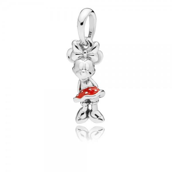 Pandora Disney Classic Minnie Hanger Dames 397768EN09 Zilver Emaille