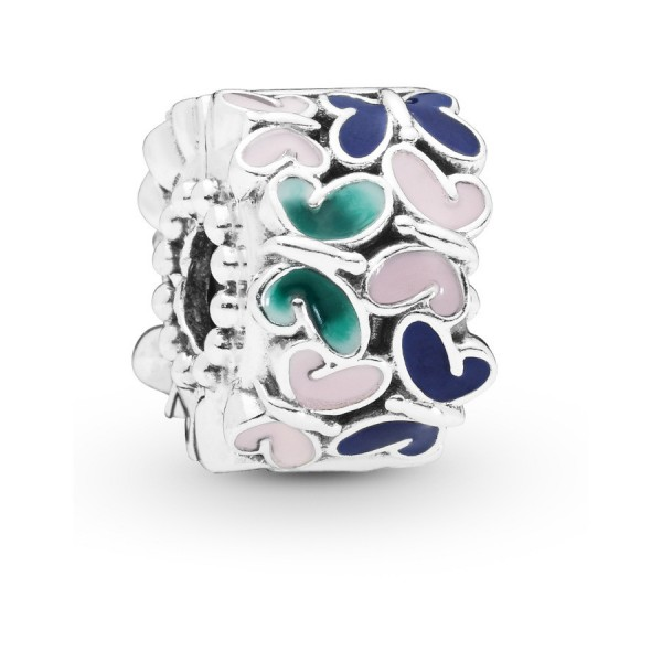 Pandora Moments Butterfly Bedel Dames 797863ENMX Zilver Emaille
